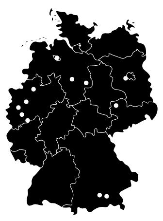 Verbreitungsgebiet des Kinderkompass