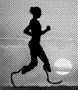 Läuferin mit Prothesen